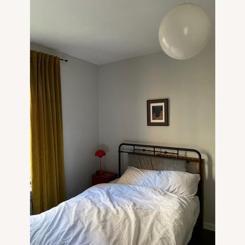 Used Baxton Studio Nashville Metal Queen Bed for sale on AptDeco