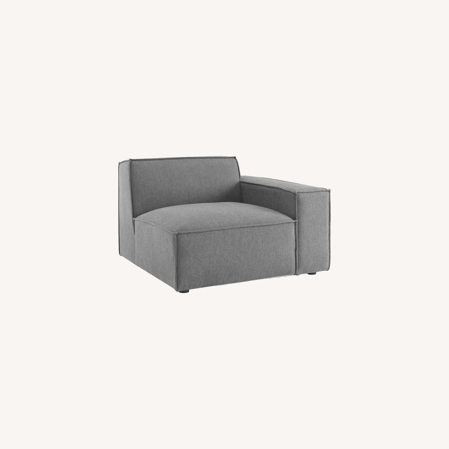 8-Piece Sectional Sofa In Charcoal Fabric Finish - image-10