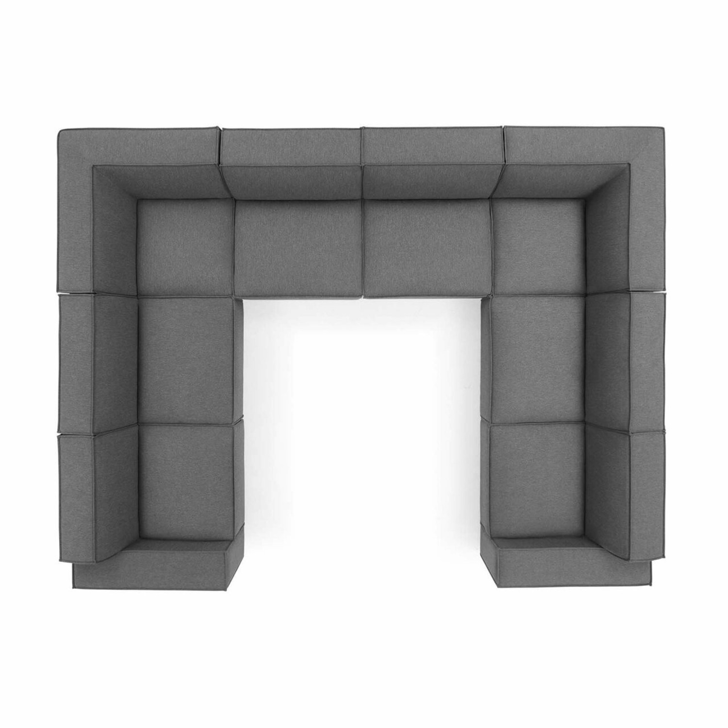 8-Piece Sectional Sofa In Charcoal Fabric Finish - image-0