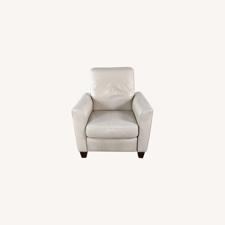 Natuzzi Fiorani Leather Recliner - image-0