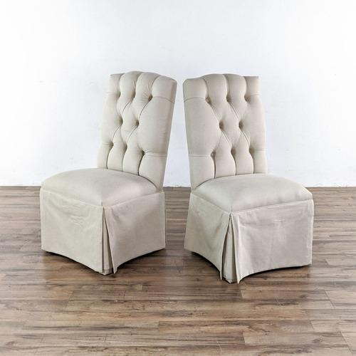 Used Pair of Ballard Designs Armless Chairs for sale on AptDeco
