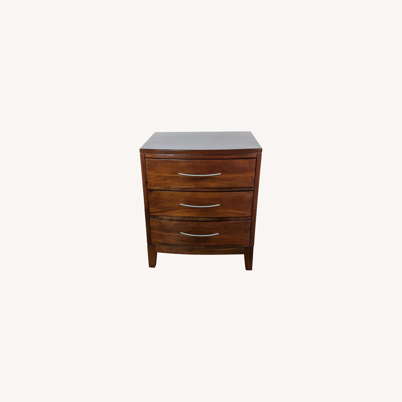 Pair of Napa Furniture Designs Wooden Nightstands - image-0