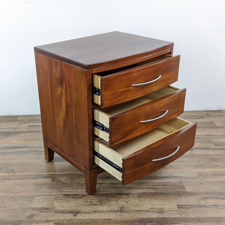 Pair of Napa Furniture Designs Wooden Nightstands - image-1