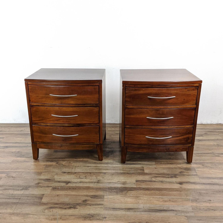Pair of Napa Furniture Designs Wooden Nightstands - image-5