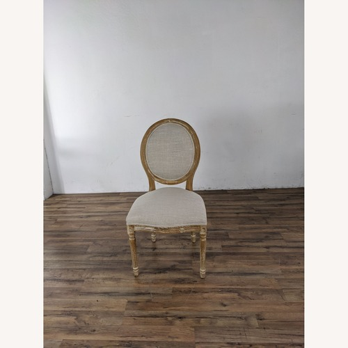 Used Pair of Pier 1 Imports Eliane Flax Dining Chairs for sale on AptDeco