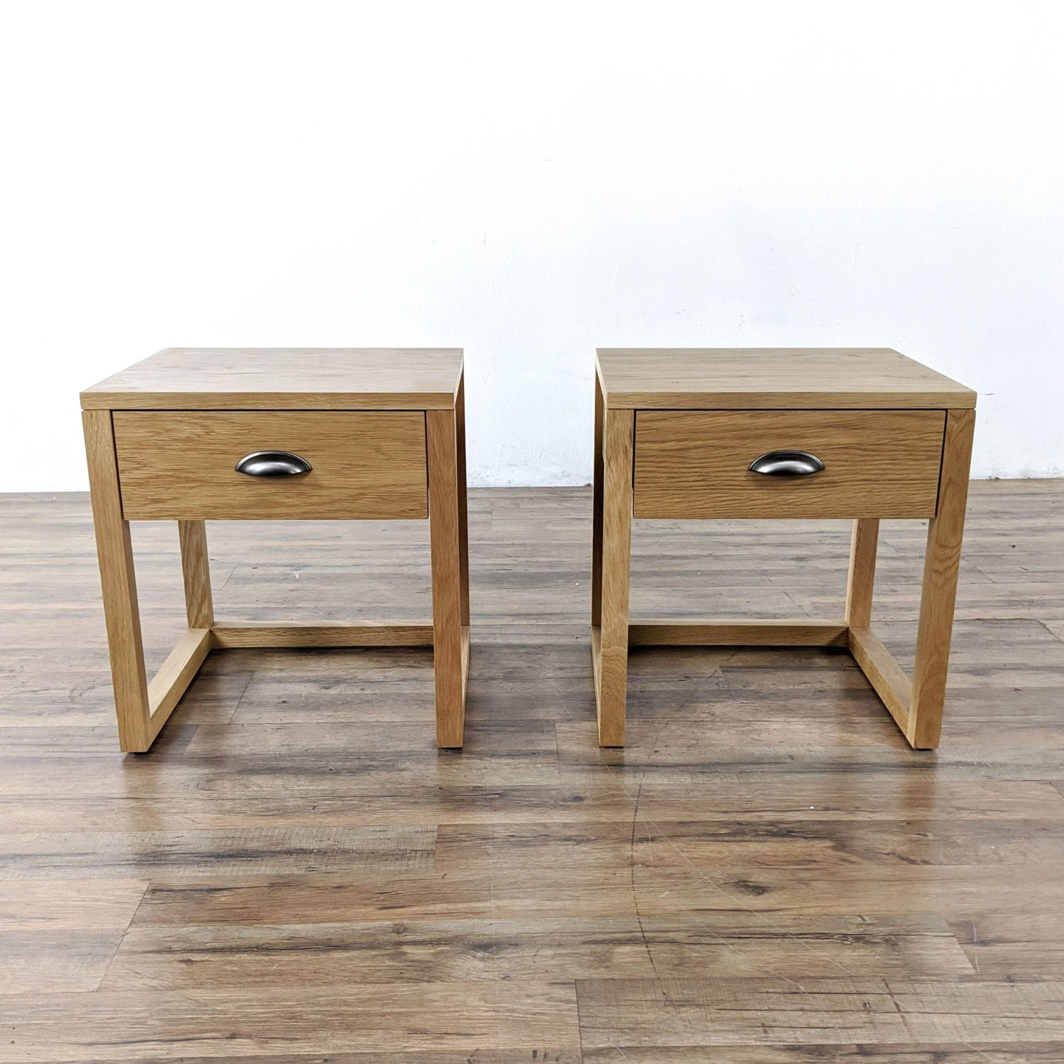 Pair of Yonga Bedside Tables in Natural Oak - image-1
