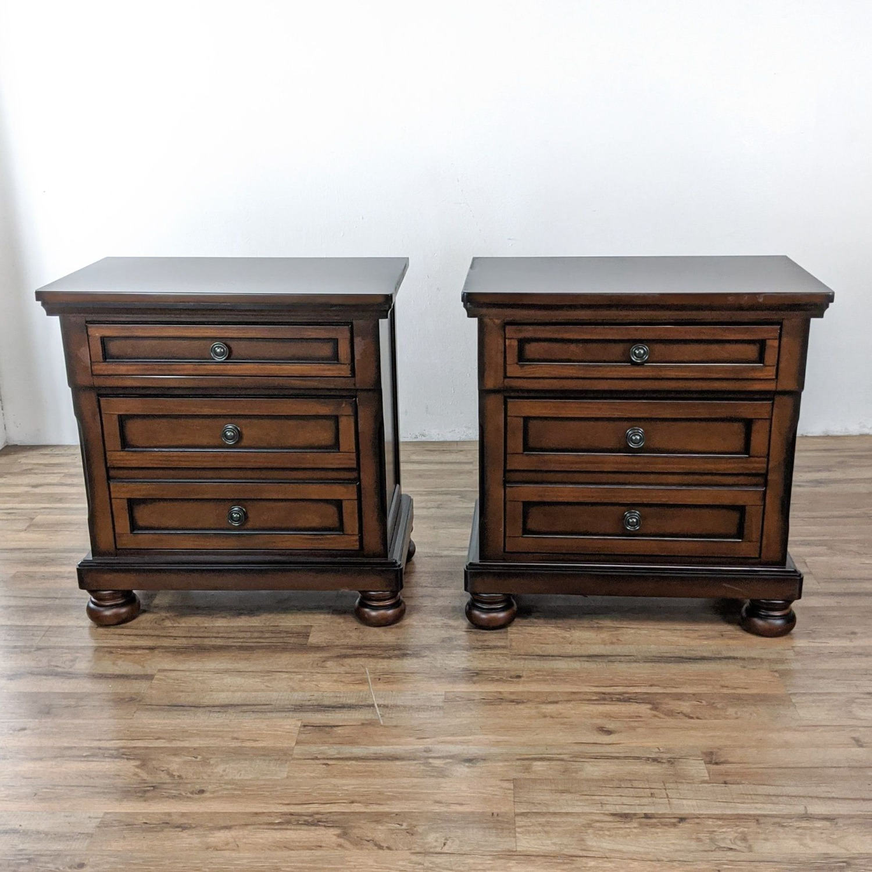Pair of Roller One Co. Wooden Nightstands - image-1