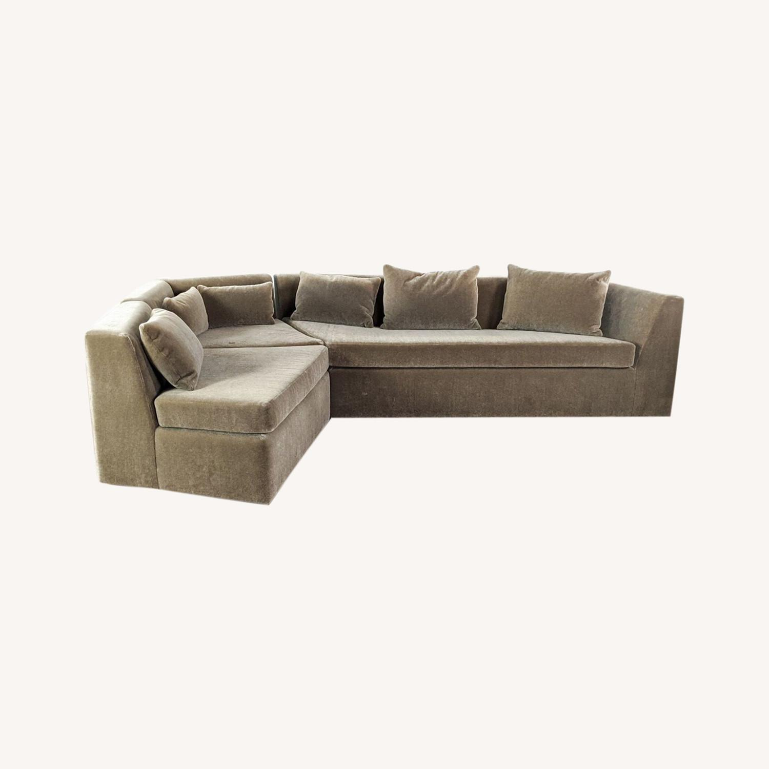 Phase Design Pangea Sectional Sofa in Gray Mohair - image-0