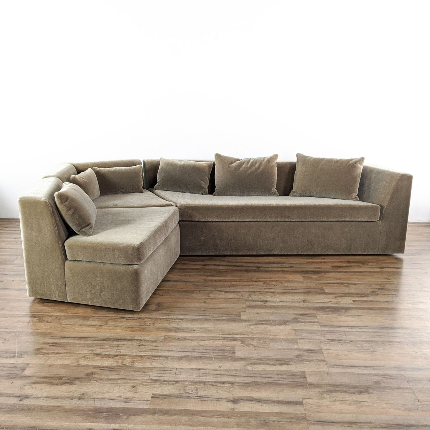Phase Design Pangea Sectional Sofa in Gray Mohair - image-3
