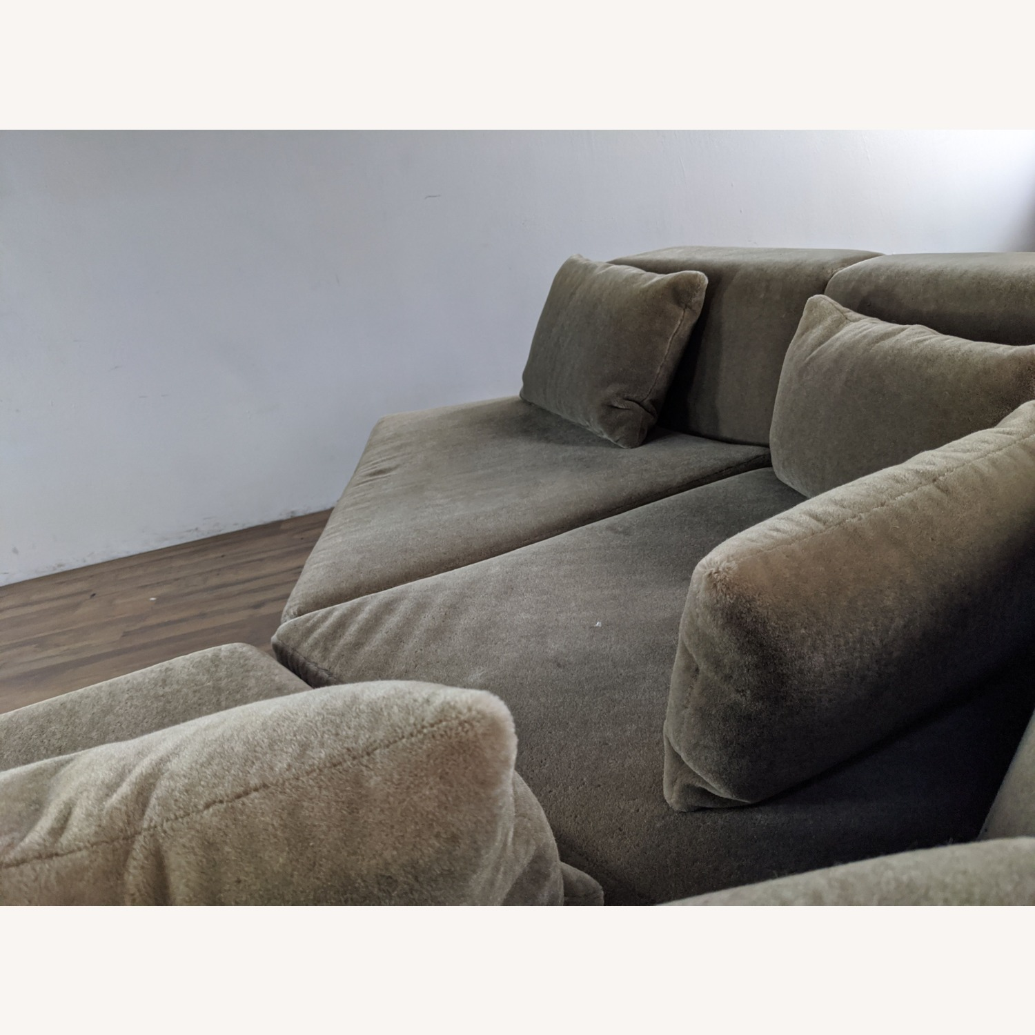Phase Design Pangea Sectional Sofa in Gray Mohair - image-2