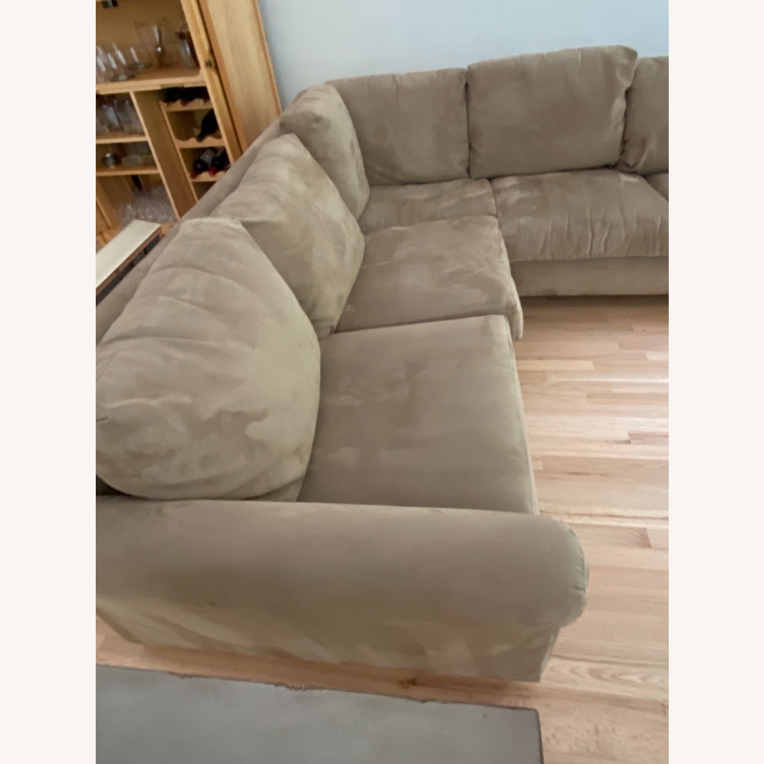Pompy Suede 5 Cushion Sectional - image-3