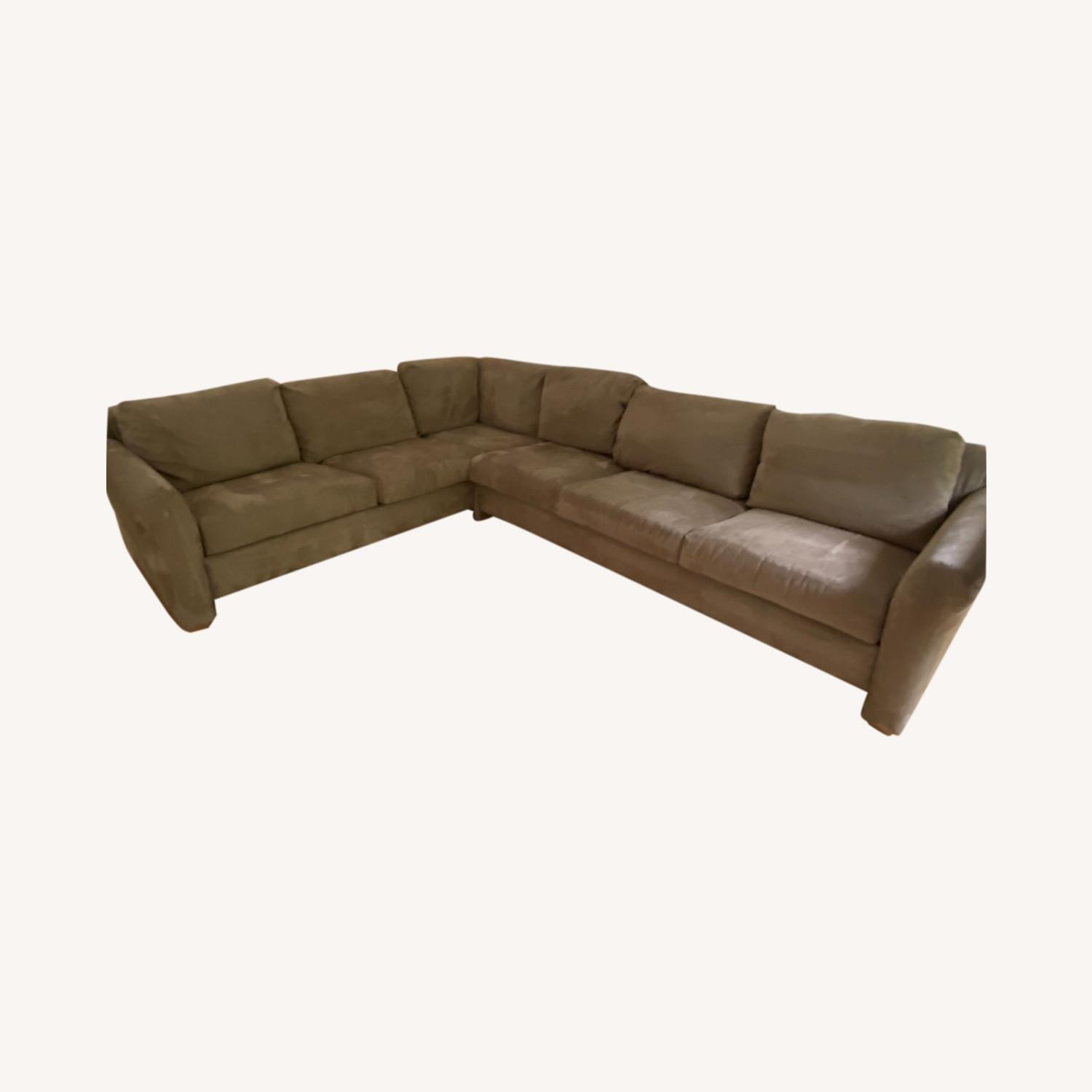 Pompy Suede 5 Cushion Sectional - image-0