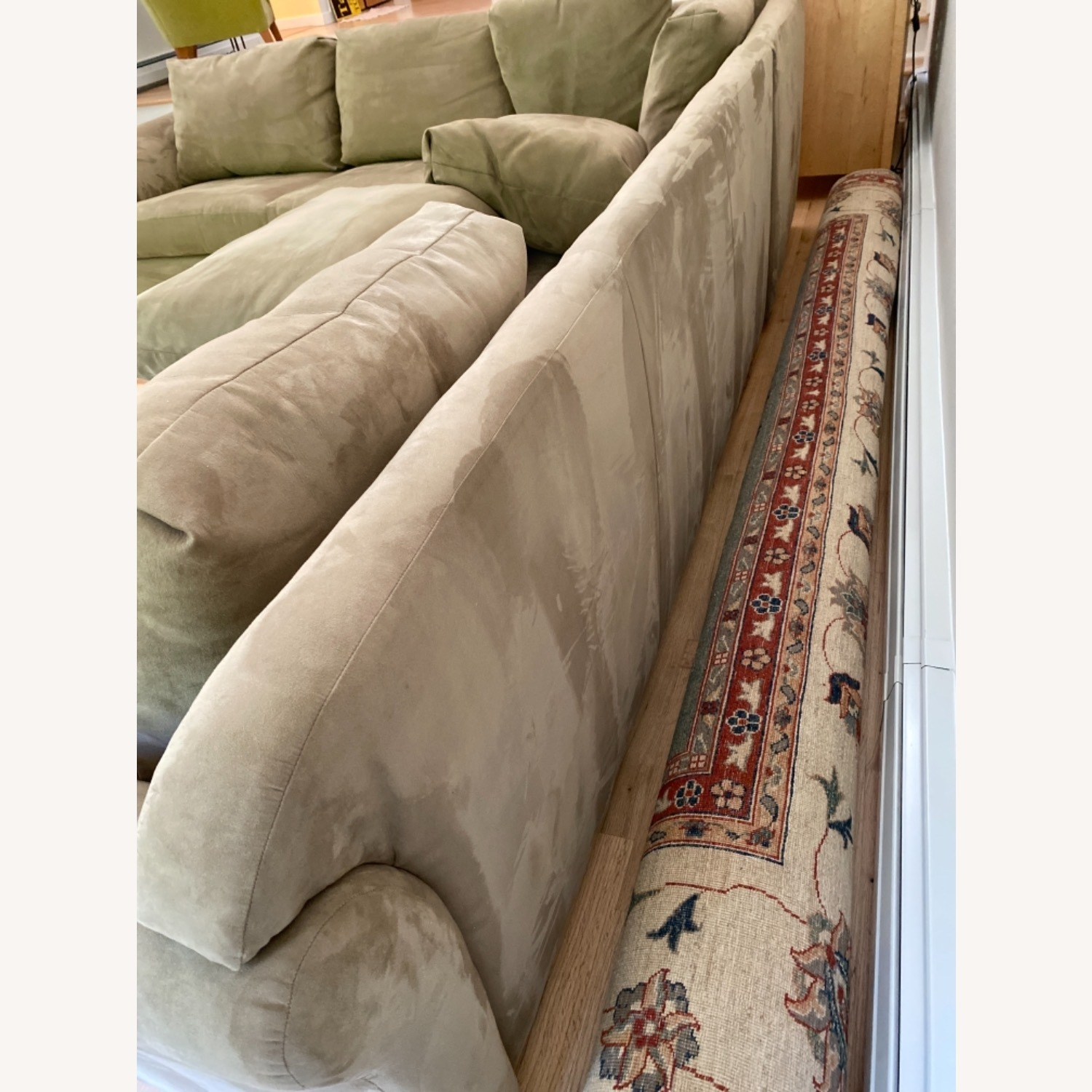 Pompy Suede 5 Cushion Sectional - image-5