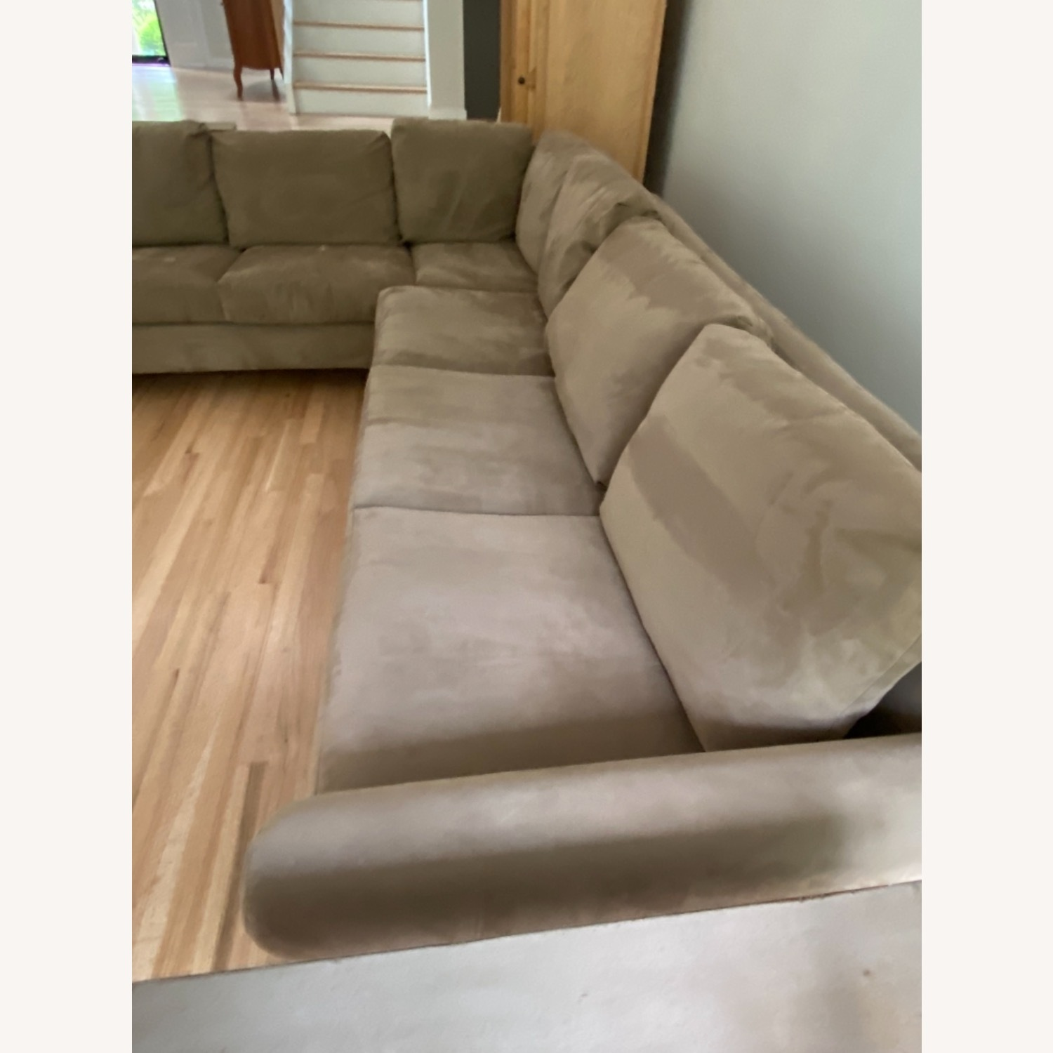 Pompy Suede 5 Cushion Sectional - image-2