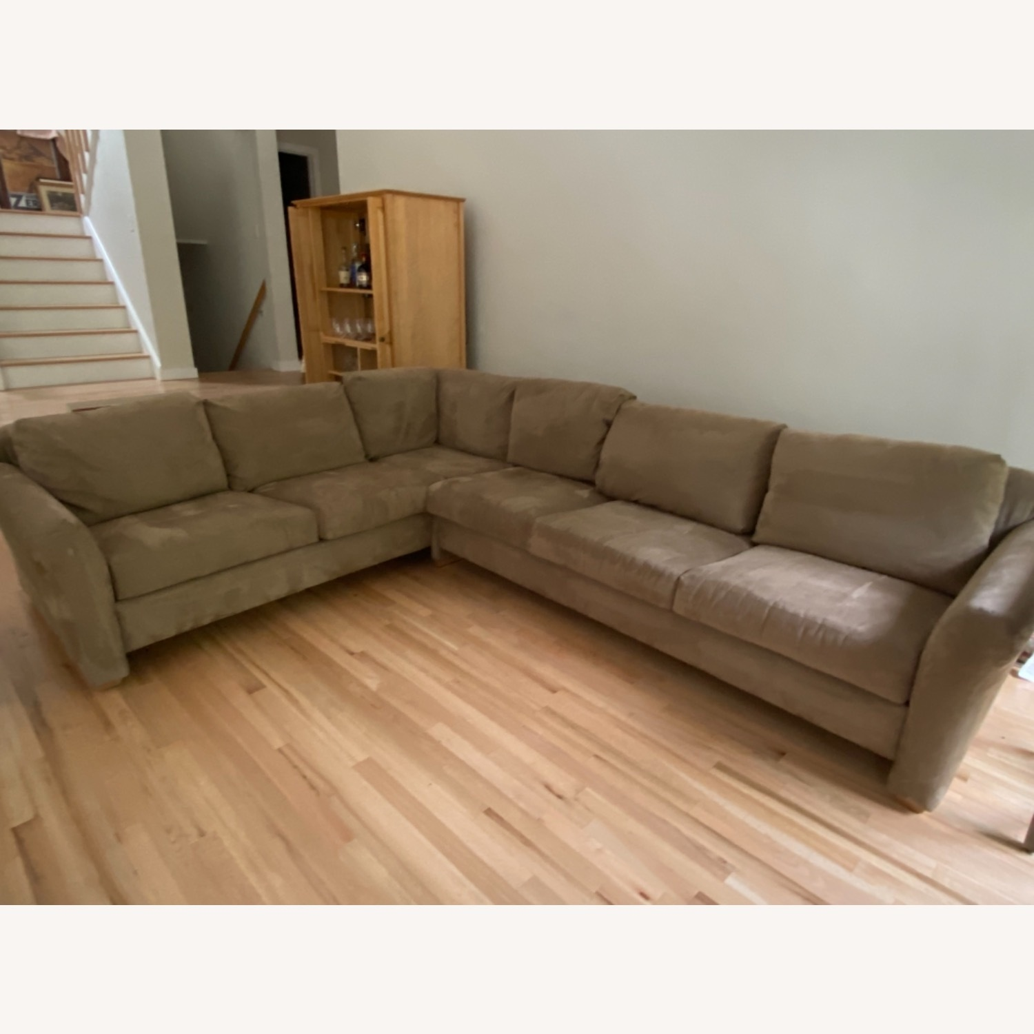 Pompy Suede 5 Cushion Sectional - image-1