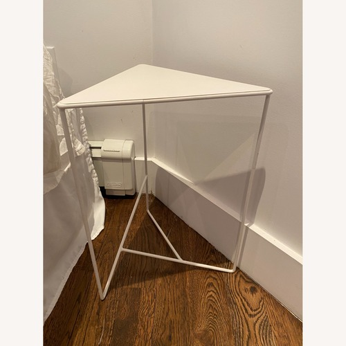 Used Urban Outfitters White Triangle Side Tables for sale on AptDeco