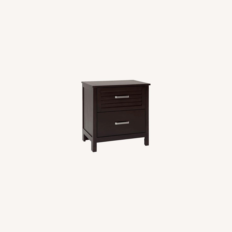 Bob's Discount Furniture Dark Wood Nightstand - image-0