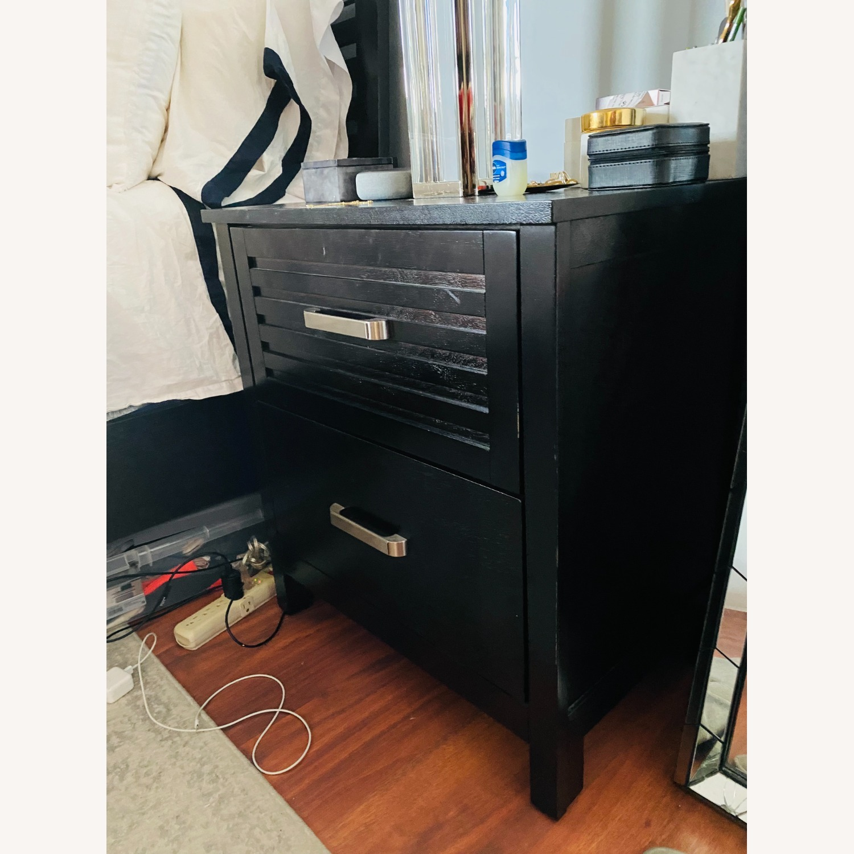 Bob's Discount Furniture Dark Wood Nightstand - image-5