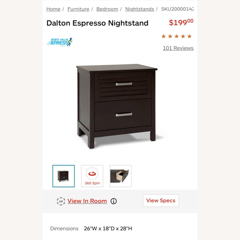 Bob's Discount Furniture Dark Wood Nightstand - image-3