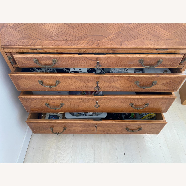 Antique Biedermeier Desk Armoire Combo - image-8