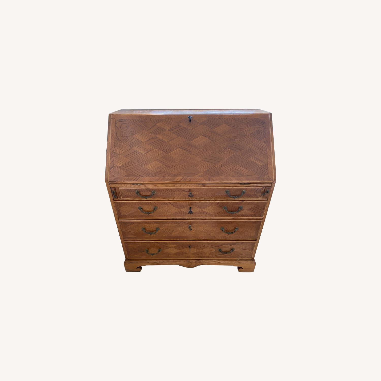 Antique Biedermeier Desk Armoire Combo - image-0