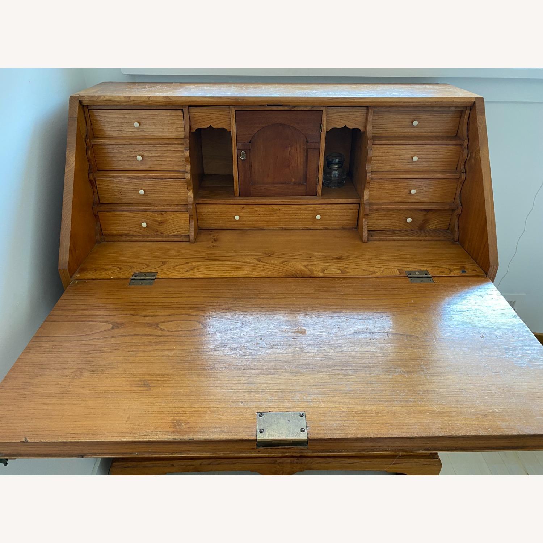 Antique Biedermeier Desk Armoire Combo - image-3