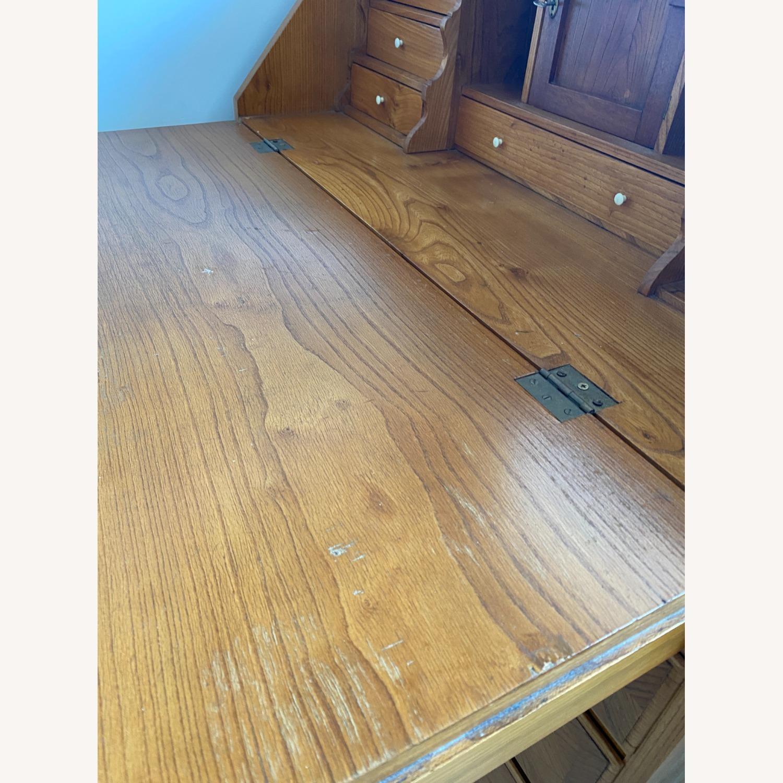 Antique Biedermeier Desk Armoire Combo - image-6