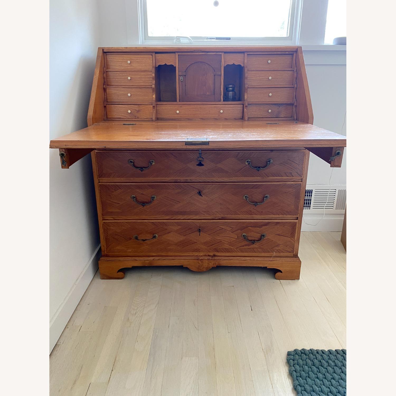 Antique Biedermeier Desk Armoire Combo - image-1