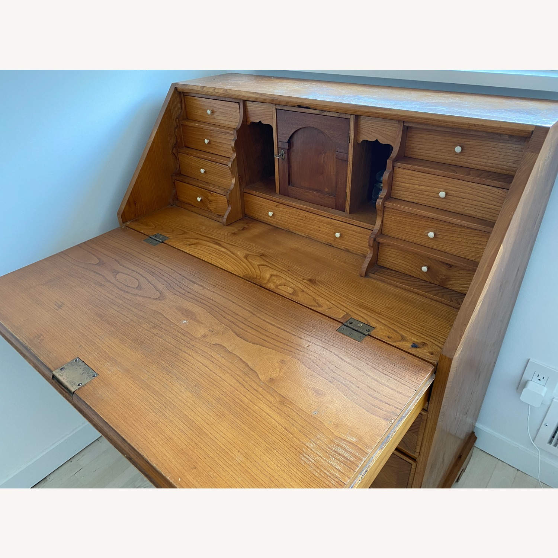 Antique Biedermeier Desk Armoire Combo - image-5