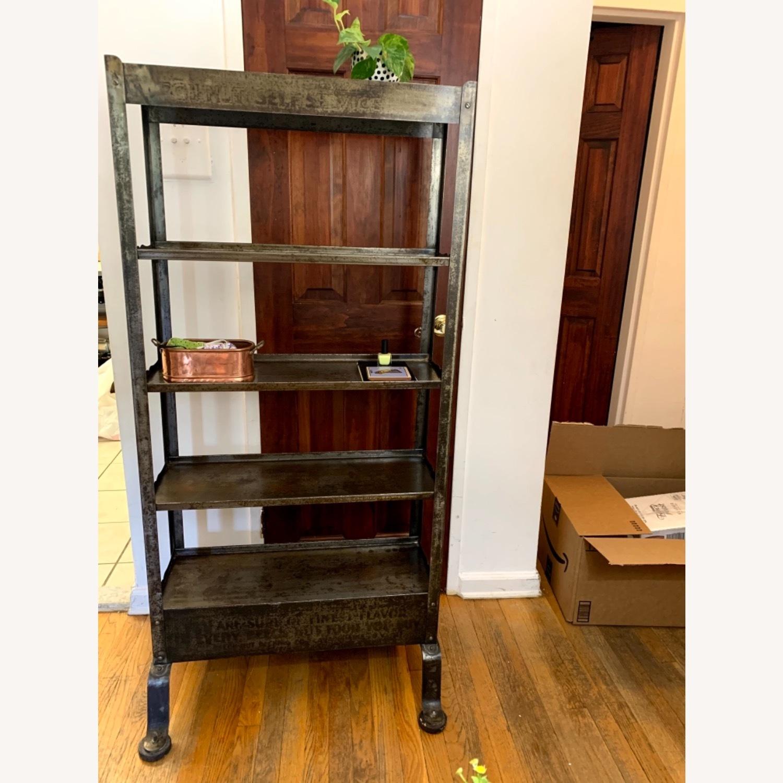 Vintage Industrial Shelves/Room Divider - image-1