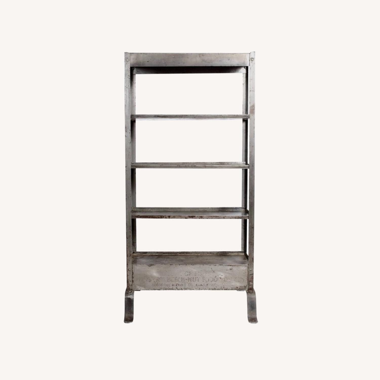 Vintage Industrial Shelves/Room Divider - image-0