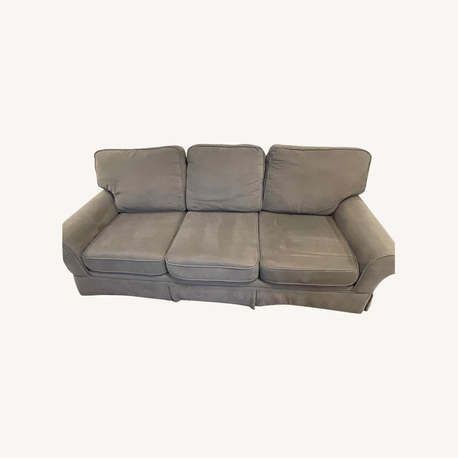 Bob's Discount Furniture 90 Couch with Queen Sleeper - image-0