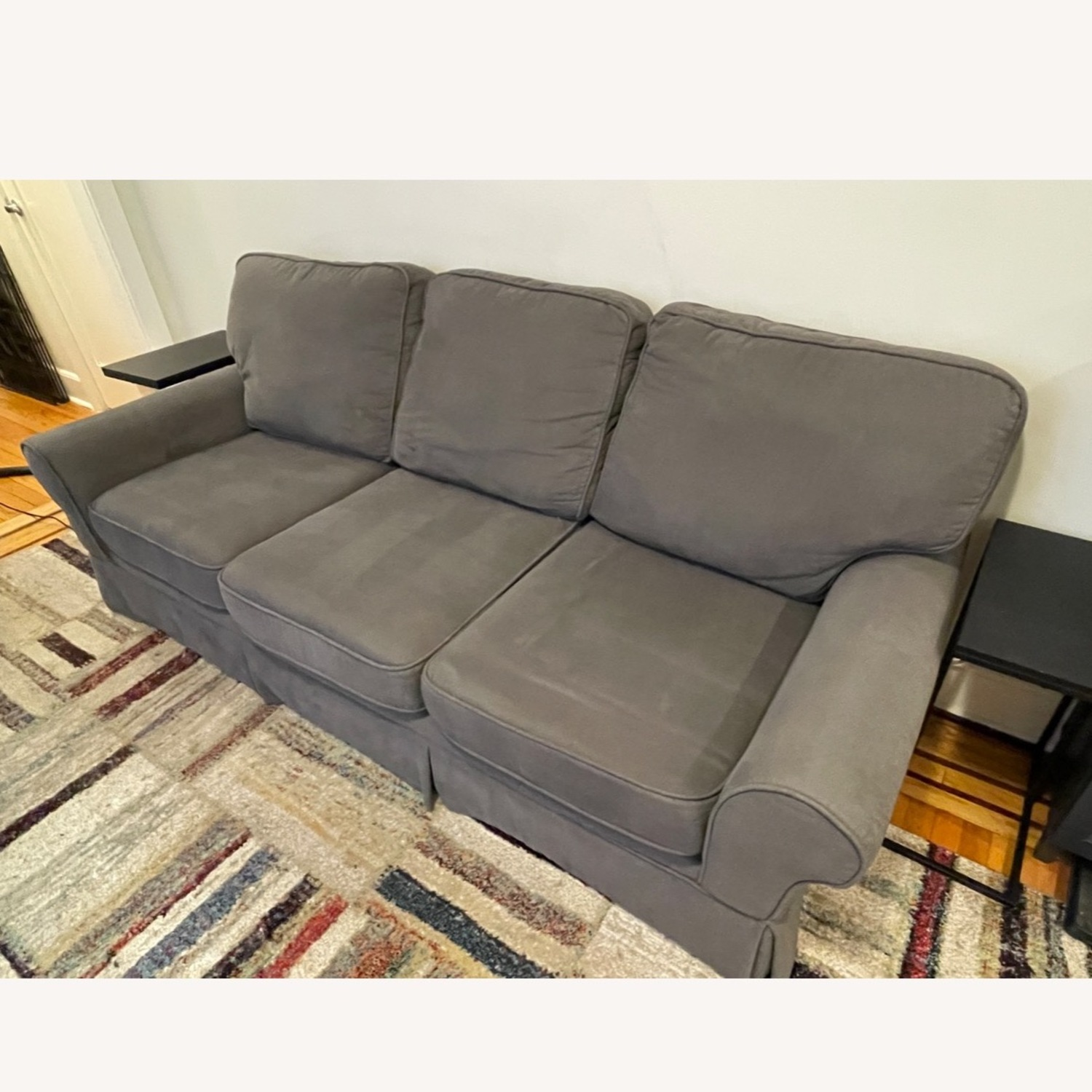 Bob's Discount Furniture 90 Couch with Queen Sleeper - image-2