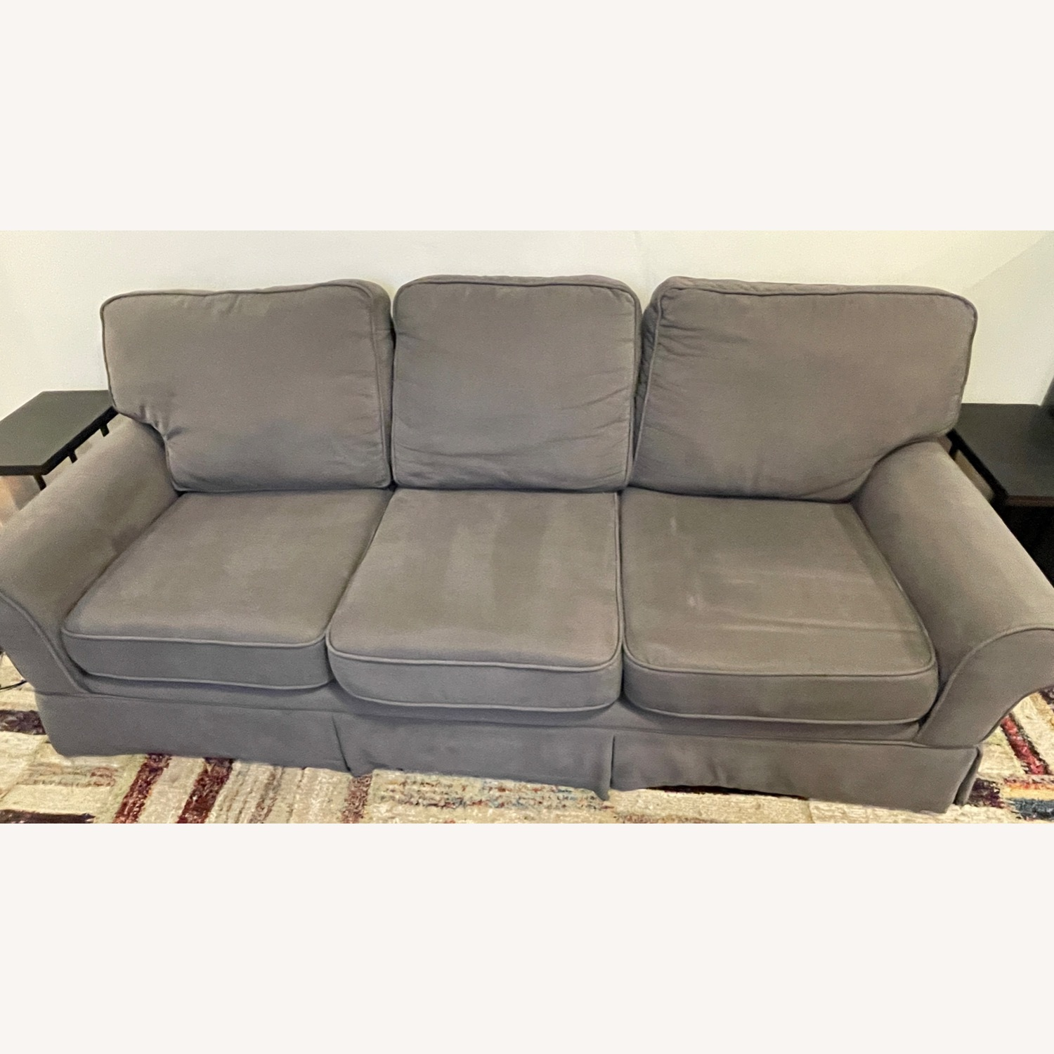 Bob's Discount Furniture 90 Couch with Queen Sleeper - image-1