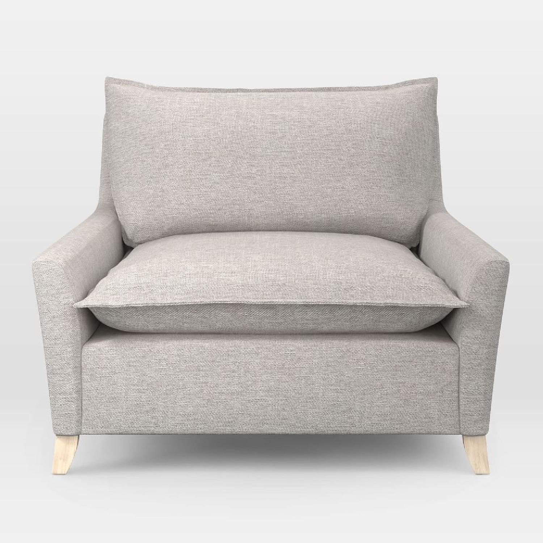 West Elm Big Grey Chair - image-4