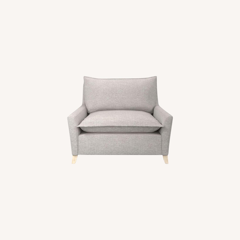 West Elm Big Grey Chair - image-0