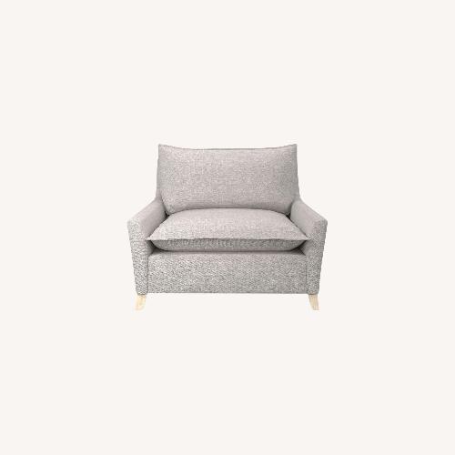 Used West Elm Big Grey Chair for sale on AptDeco