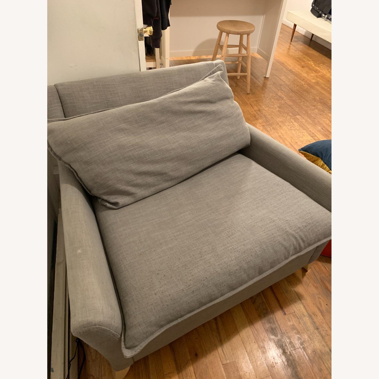 West Elm Big Grey Chair - image-3