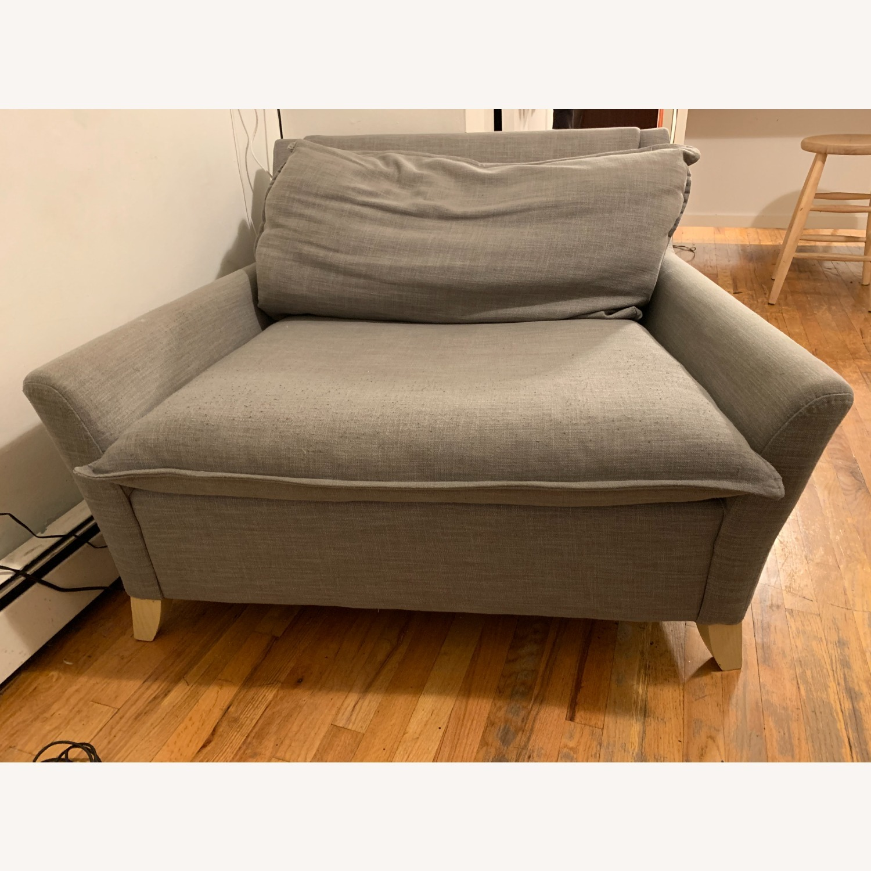 West Elm Big Grey Chair - image-2