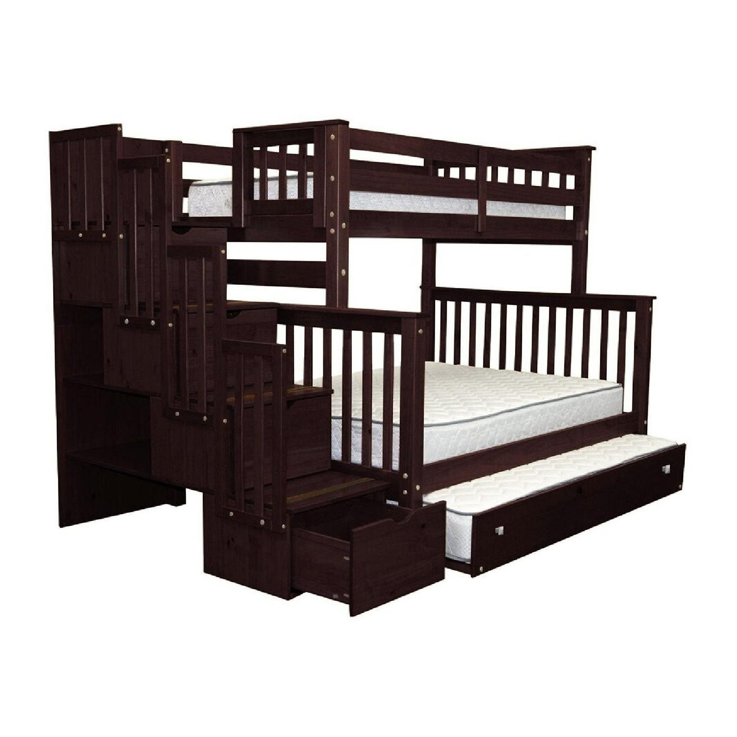 Wayfair Solid Wood Bunk Bed with Trundle, Storage - image-7