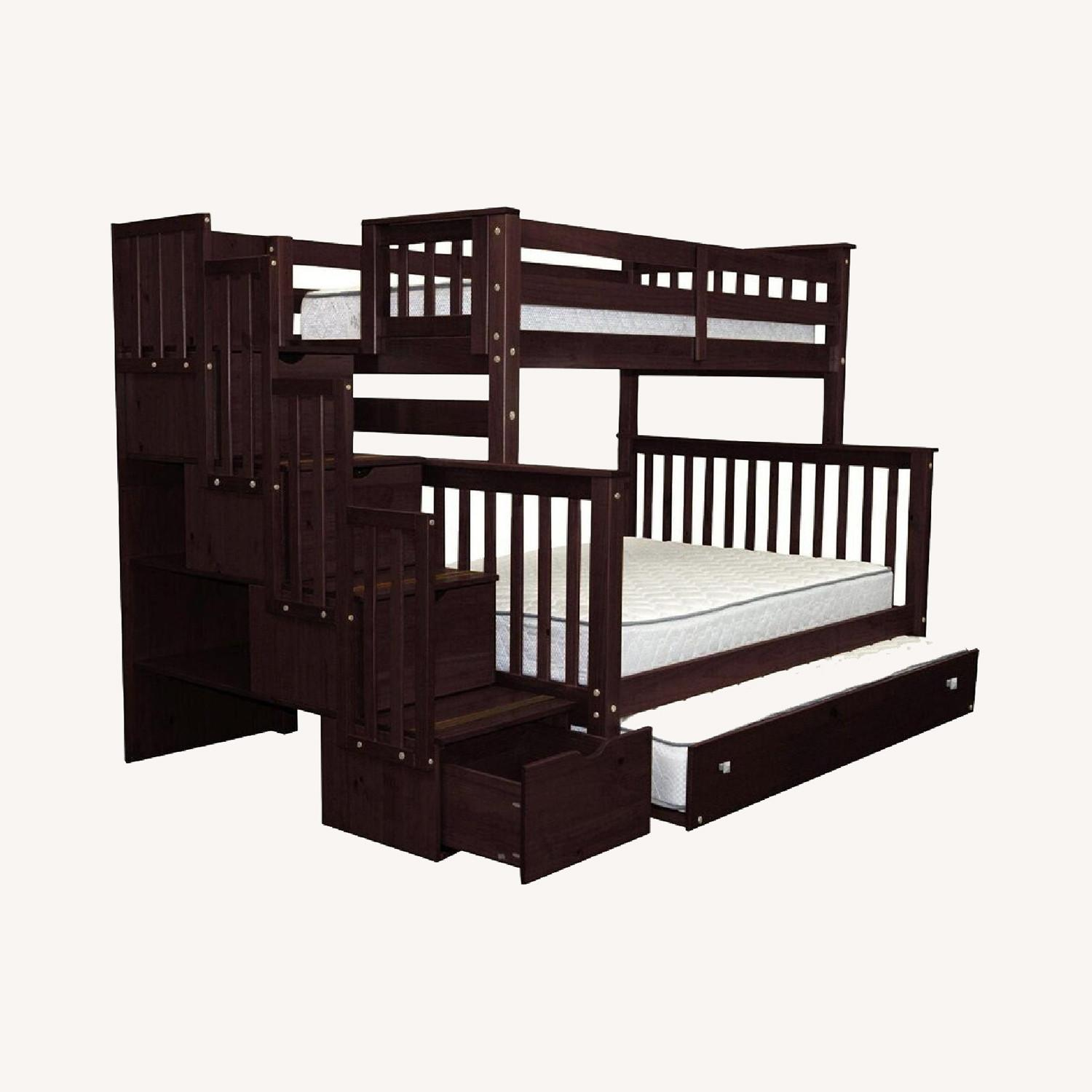 Wayfair Solid Wood Bunk Bed with Trundle, Storage - image-0