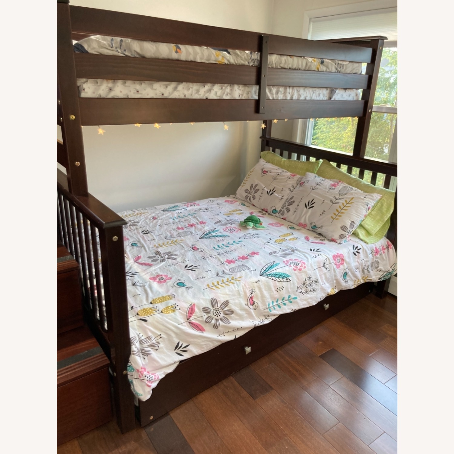 Wayfair Solid Wood Bunk Bed with Trundle, Storage - image-2