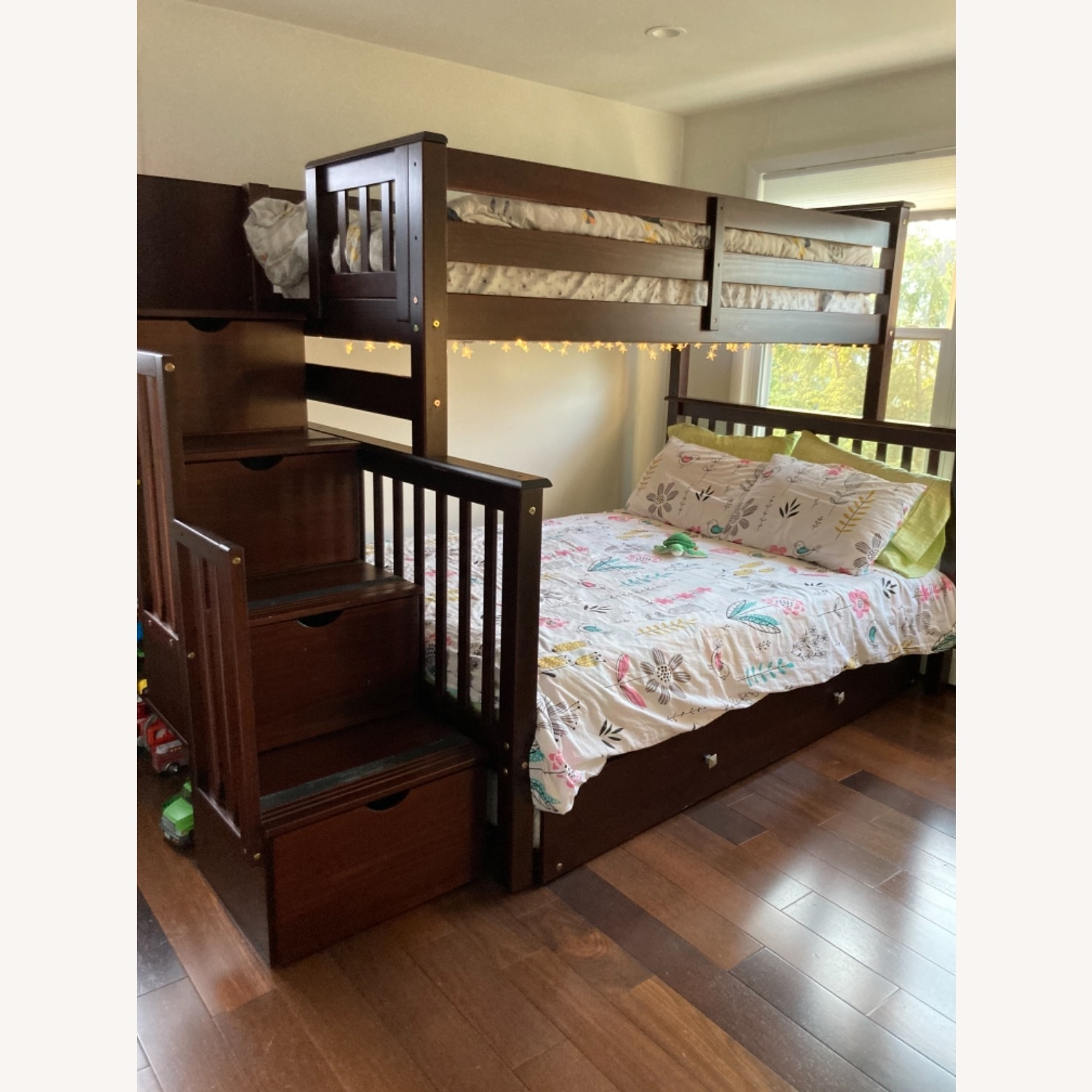 Wayfair Solid Wood Bunk Bed with Trundle, Storage - image-1