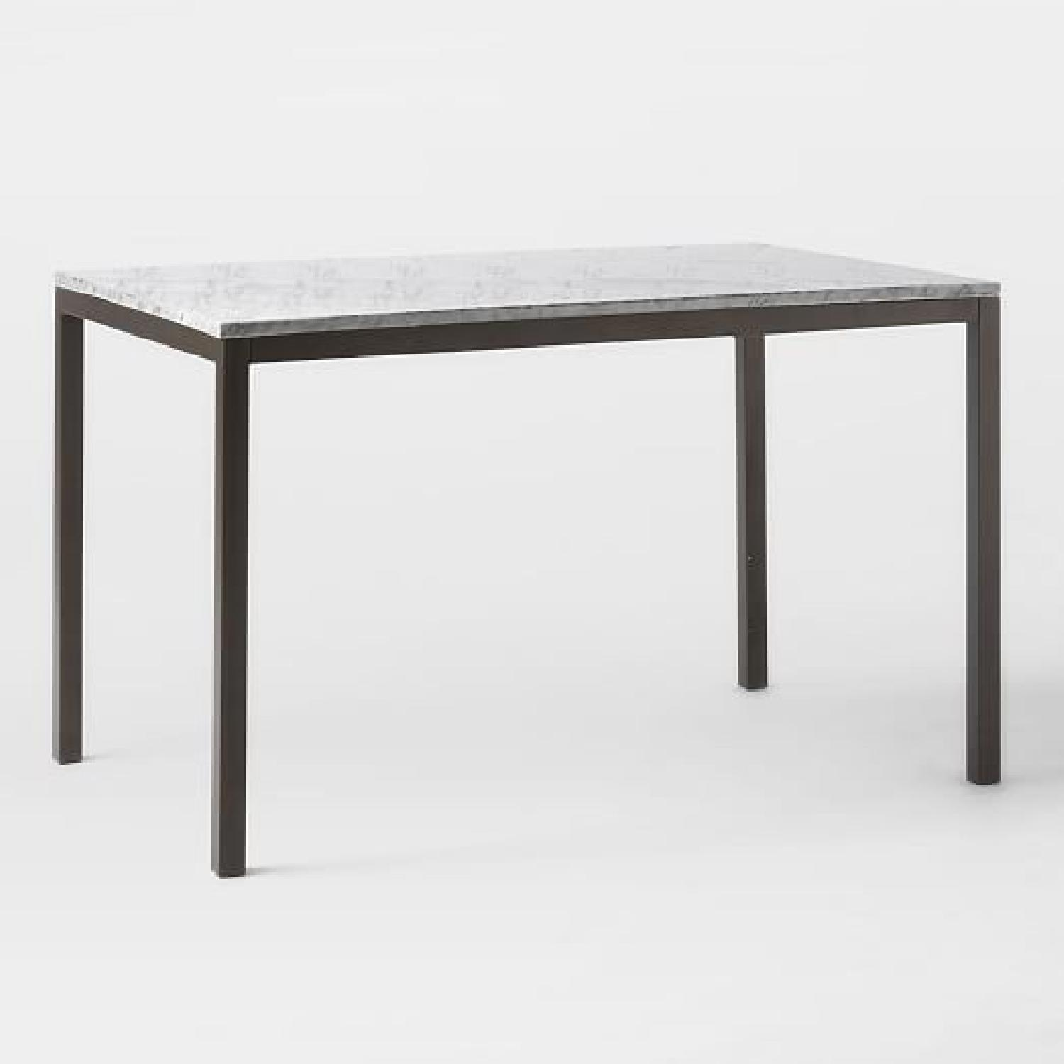 West Elm Box Frame Marble Dining Table - image-7