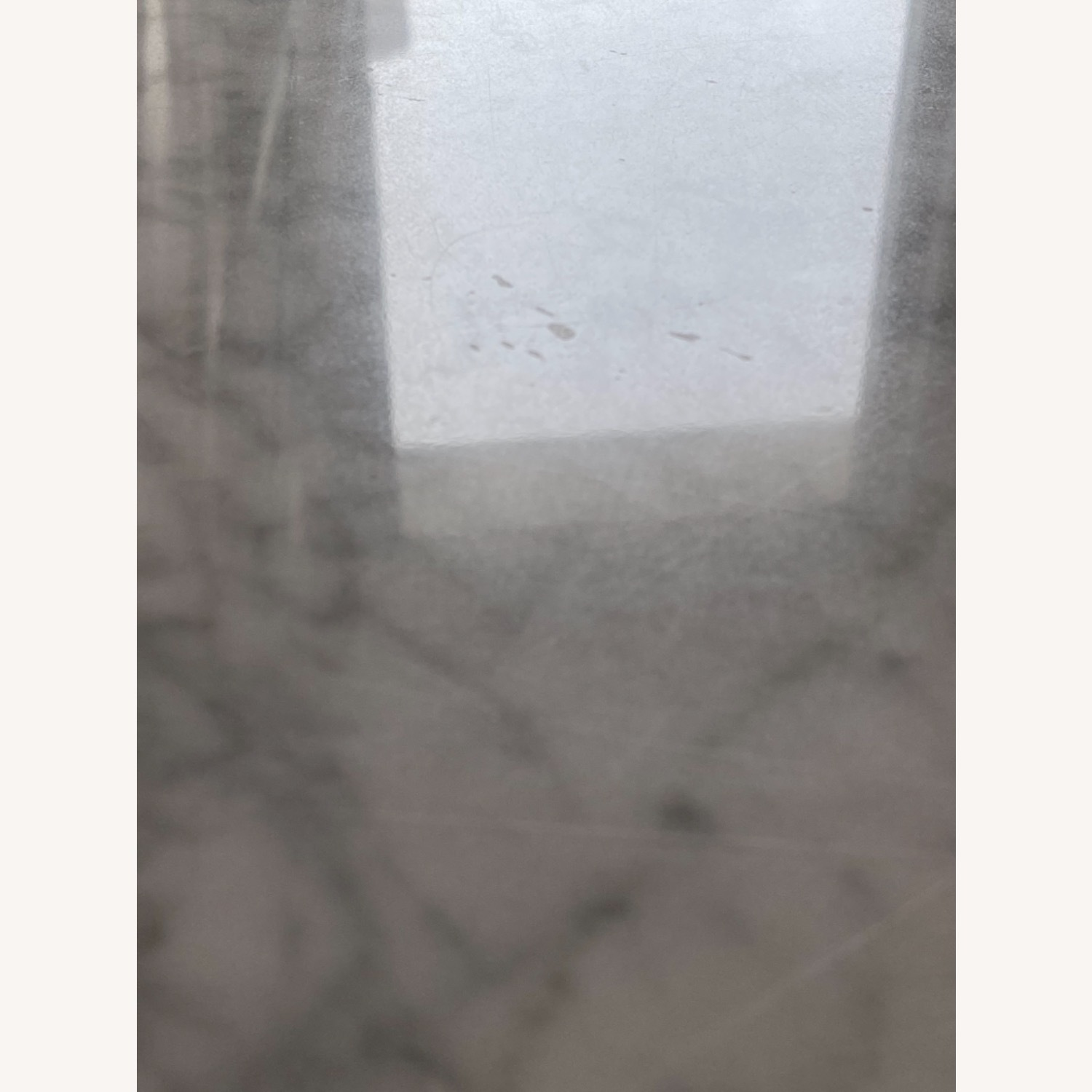 West Elm Box Frame Marble Dining Table - image-9