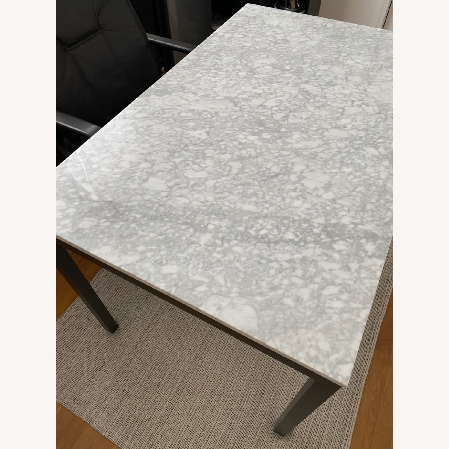 West Elm Box Frame Marble Dining Table - image-2