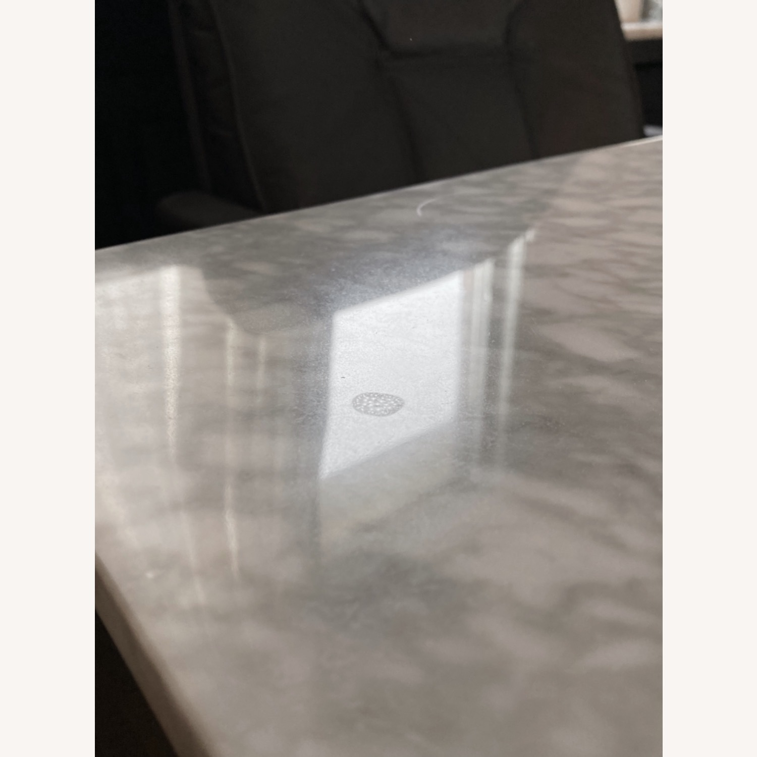 West Elm Box Frame Marble Dining Table - image-8