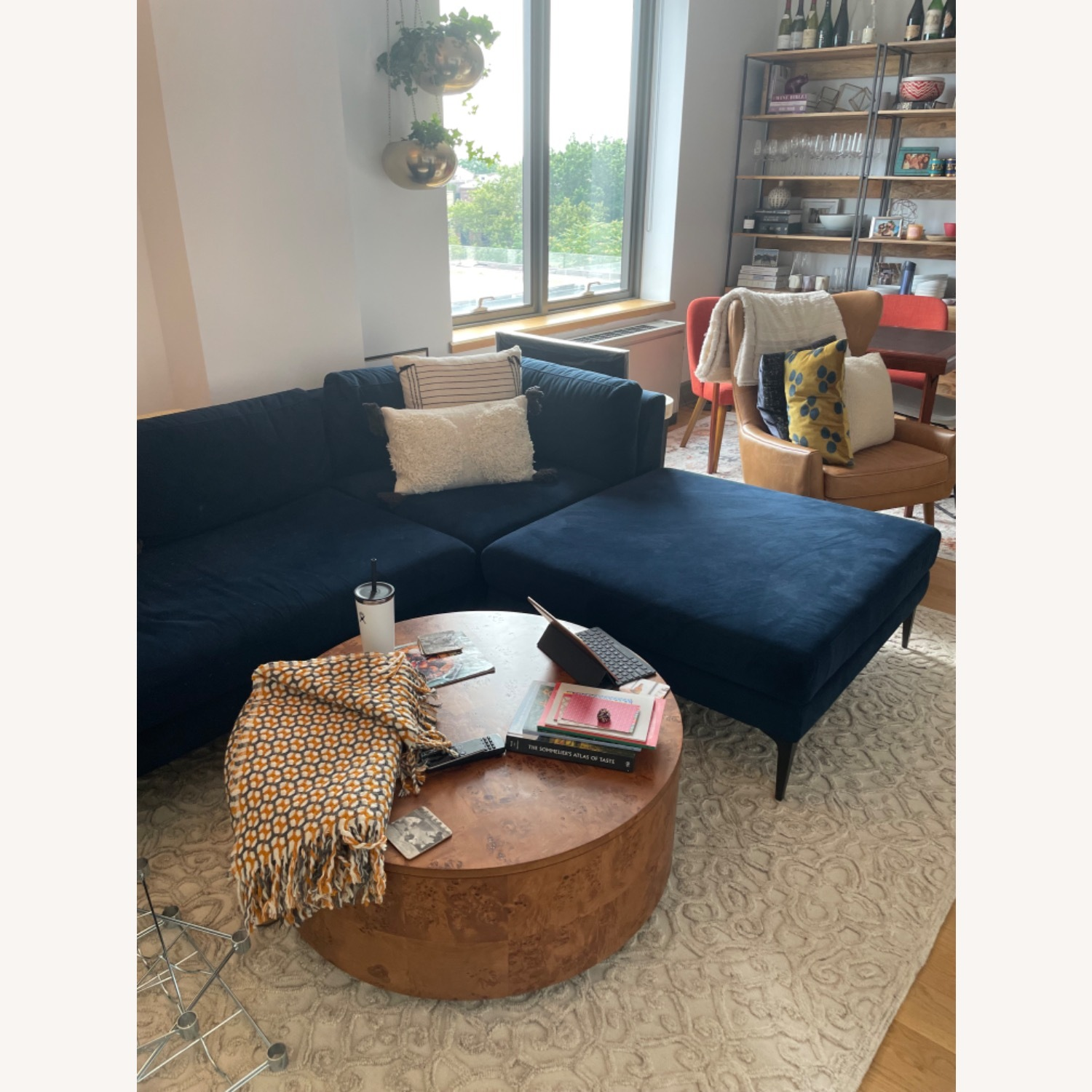 West Elm Andes 3-Piece Left Sectional Navy - image-2