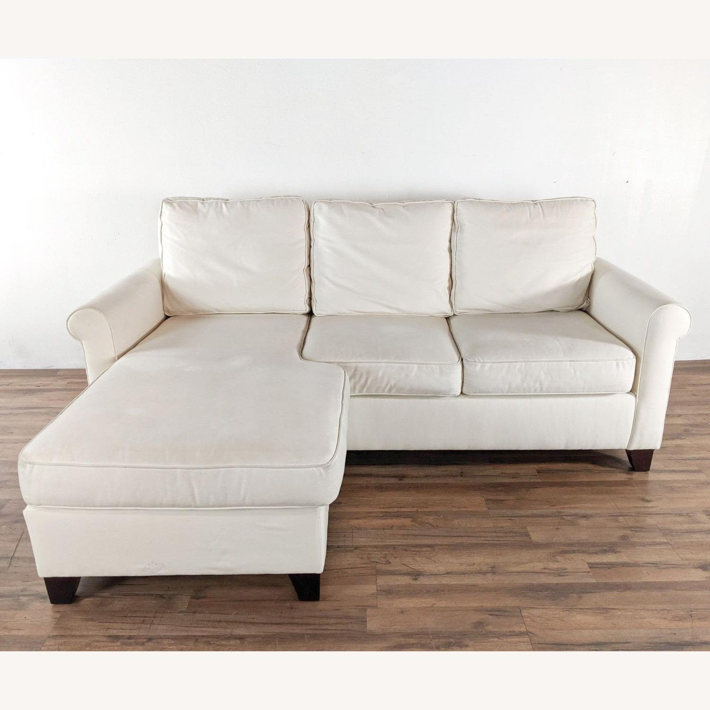 Pottery Barn White Upholstered Sectional Sofa - image-1