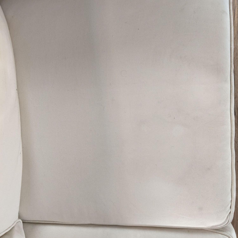 Pottery Barn White Upholstered Sectional Sofa - image-5